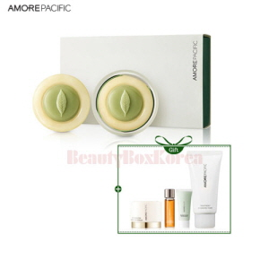 AMOREPACIFIC Vintage Green Tea Cleansing Soap Set [Monthly Limited -July 2018]